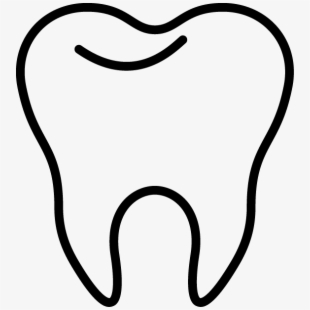 Tooth white. Clip art inderecami drawing