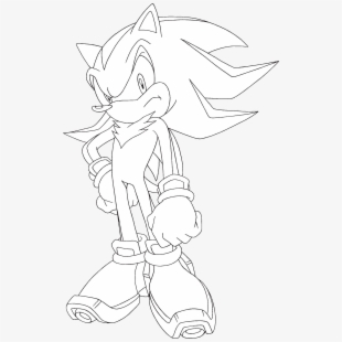 How To Draw Sonic The Hedgehog Drawing Transparent Cartoon Free Cliparts Silhouettes Netclipart