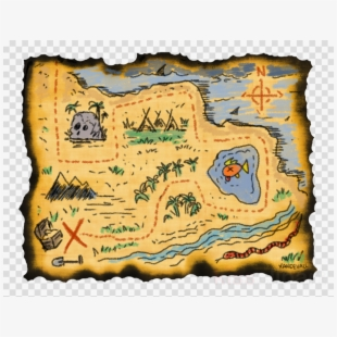 Treasure Map Png - Treasure Map Route Png , Free Transparent Clipart -  ClipartKey