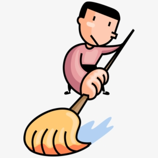 Janitor Clipart Floor Cleaning Janitor Cartoon