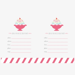 photo relating to Ice Cream Party Invitations Printable Free called Ice Product Occasion Birthday Invitation - Birthday Occasion