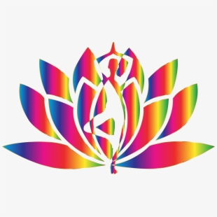 Spectrum No Background Icons Png Free And Yoga Lotus Transparent Cartoon Free Cliparts Silhouettes Netclipart