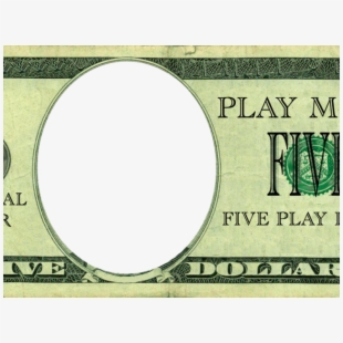 graphic regarding Play Money Template named Greenback Clipart Template - Enjoy Funds Template $5