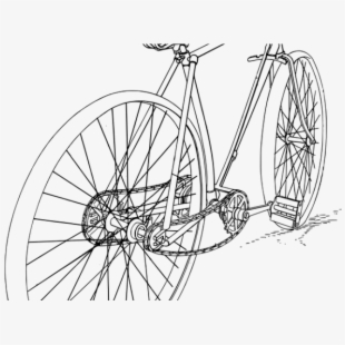 Drawn Pushbike Bike Pedal Gambar Sketsa Sepeda Ontel Transparent Cartoon Free Cliparts Silhouettes Netclipart