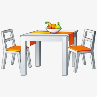 Dining Table Furniture Black And White Png
