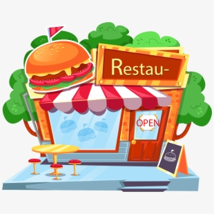 Burger Clipart Fast Food - Fast Food Plate Clipart