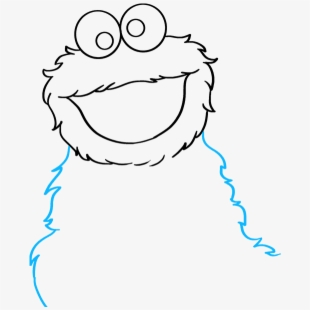 How To Draw Cookie Monster From Sesame Street Draw The