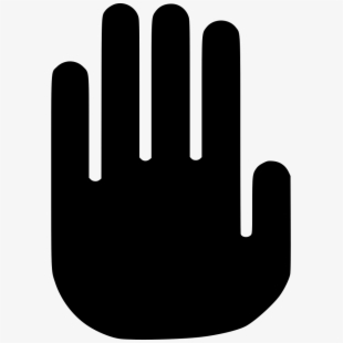 Stop Hand Clipart Black And White , Transparent Cartoon