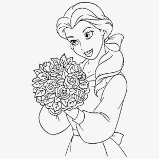 Clipart Stock Disney Princesses Pages Print Flowers Princess Coloring Pages Transparent Cartoon Free Cliparts Silhouettes Netclipart