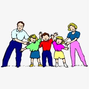 Big family on a white background.