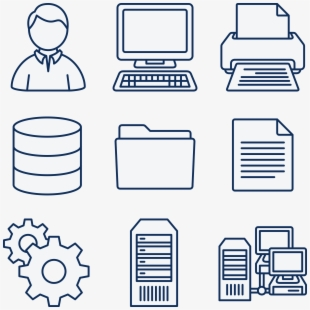 Free Icons Png - Computer Server Clipart , Transparent