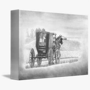 Amish Buggy And Horse - Horse Drawn Cart Clipart ...