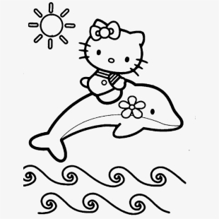 Simple Christmas Kitten Coloring Pages Printable 20 - Hello Kitty ... | 310x310