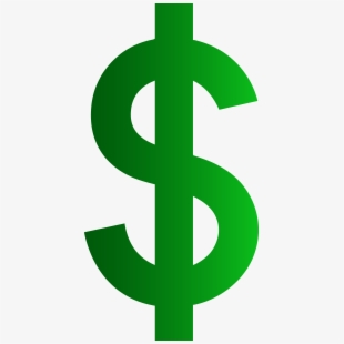 Dollar sign money. Green symbol clip art
