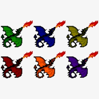 Dragon Head Pixel Art Transparent Cartoon Free Cliparts