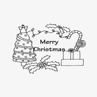 Pictures Blank Card Christmas Coloring For Kids Easy Merry