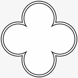 Shape Outline Clipart - Quatrefoil Png , Transparent Cartoon, Free ...