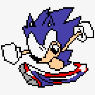 Pixel Art Of Sonic The Hedgehog Sonic Exe 8 Bit Transparent Cartoon Free Cliparts Silhouettes Netclipart