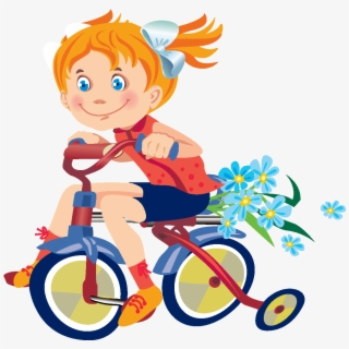 Kid Bike Clipart Boy Bike Clipart Png Transparent