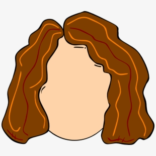 Original Png Clip Art File Young Girl Hair Highlights Cartoon Character With Brown Curly Hair Transparent Cartoon Free Cliparts Silhouettes Netclipart