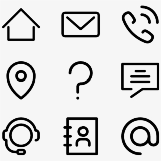 Contact Icons For Resume Png Transparent Cartoon Free Cliparts