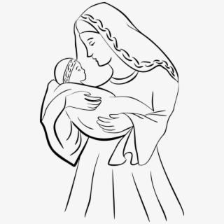 Original Easy Mother And Baby Drawing Transparent Cartoon Free Cliparts Silhouettes Netclipart