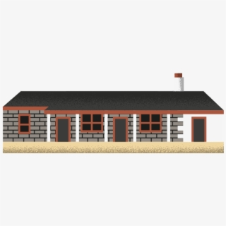 Hut Clipart Stone Houses - 2d House Top View Png ... (320 x 320 Pixel)