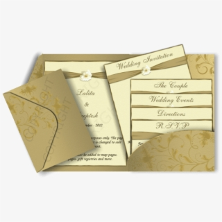 Free Png Download Gold Colour Wedding Invitation Card
