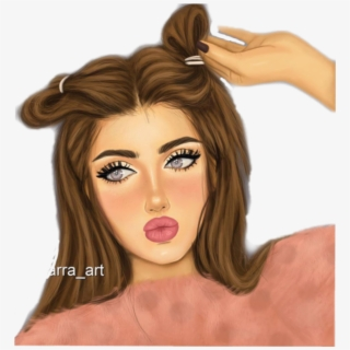 Original Girl With Brown Hair And Brown Eyes Cartoon