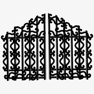 Gate - Cemetery Gates - Hell Clipart Transparent PNG