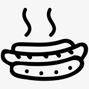 Hot Dog Royalty Free Clip Art Transprent - Black And White ...