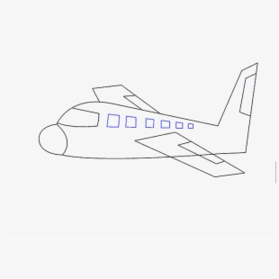 Airplane Clipart Easy Line Art Transparent Cartoon Free Cliparts Silhouettes Netclipart
