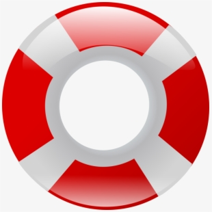 Life Saver Ring Clipart - Red And White Swimming Float