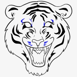 How To Draw Tiger Face - Tiger Face Drawing Easy ...