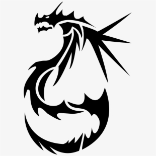 Improve This Drawing Draw Black And White Dragon Transparent Cartoon Free Cliparts Silhouettes Netclipart