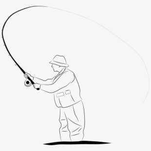 Rod Drawing Fishing Fisherman Line Drawing Transparent Cartoon Free Cliparts Silhouettes Netclipart