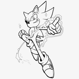 Super Sonic Drawing Super Sonic Black And White Transparent Cartoon Free Cliparts Silhouettes Netclipart