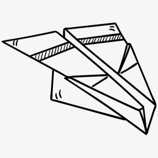 Paper Airplane Clipart Cute Aeroplane Lineart Transparent